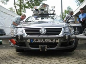 Caroline, de 'intelligente auto' van de Technische Universiteit Braunschweig.